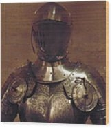 Knight In Shining Armor Wood Print