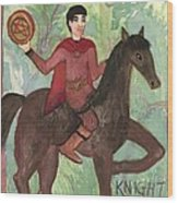 Knight Of Pentacles Wood Print