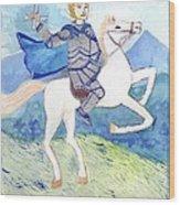 Knight Of Swords Wood Print
