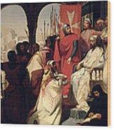 Knights Of The Order Of St John Of Jerusalem Restoring Religion In Armenia Wood Print