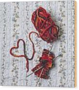 Knitted With Love Wood Print