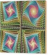 Knitting Wood Print by Anastasiya Malakhova