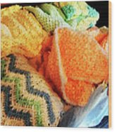 Knitting For Baby Wood Print