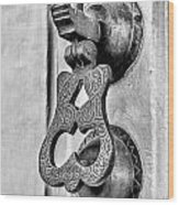 Knock Knock - Bw Wood Print