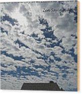 Knock On The Sky 2 Wood Print
