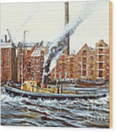 Knocker White Sailing Down River Past Rotherhithe Wood Print
