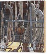 Knots Of Lines Wood Print