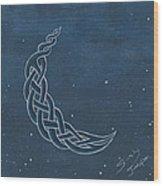 The Knotty Moon Wood Print