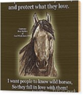 Know Wild Horses Poster-huricane Wood Print by Linda L Martin