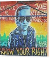 Know Your Rights Wood Print