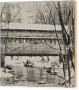 Knox Valley Forge Covered Bridge Wood Print
