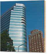 Knoxville Buildings Wood Print