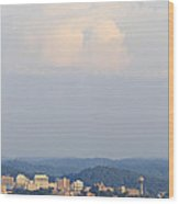 Knoxville Skyline With Clouds Wood Print