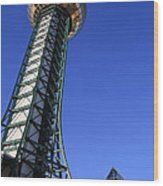 Knoxville Sunsphere Perspective Wood Print