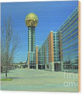 Knoxville Tn Sunsphere Hdr Wood Print