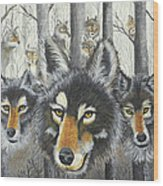 Knoxville Wolves Wood Print