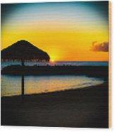 Ko' Olina Sunset Wood Print
