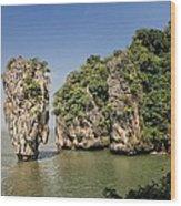 Ko Tapu Island In Thailand Wood Print