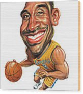 Kobe Bryant Wood Print by Art