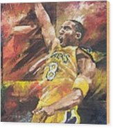 Kobe Bryant  Wood Print by Christiaan Bekker
