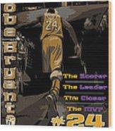Kobe Bryant Game Over Wood Print