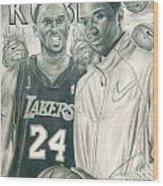 Kobe Bryant Wood Print by Kobe Carter