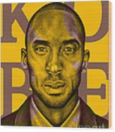 Kobe Bryant Lakers' Gold Wood Print by Rabab Ali