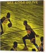 Kobe Lakers Wood Print
