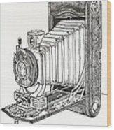 Kodak 3a Autographic Wood Print