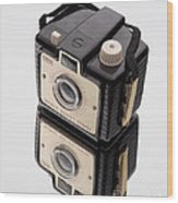 Kodak Brownie Bullet Camera Mirror Image Wood Print