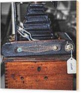 Kodak Folding Autographic Brownie 2-a Wood Print by Kaye Menner