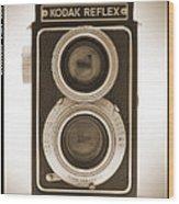Kodak Reflex Camera Wood Print
