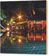 Koh Samui Beach Resort Wood Print