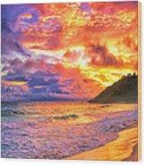 Kohala Sunset Wood Print
