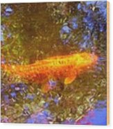 Koi Fish 2 Wood Print