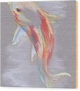 Koi Fish Swimming Wood Print by MM Anderson