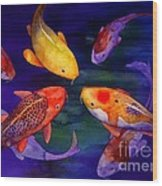 Koi Friends Wood Print