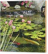 Koi Pond Wood Print by Doug Kreuger