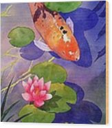 Koi Pond Wood Print by Robert Hooper
