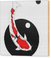 Koi Sanke Circles Nishikoi Painting Wood Print