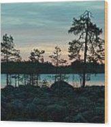 Koirajarvi Dawn Wood Print