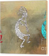 Kokopellis Wood Print by GCannon