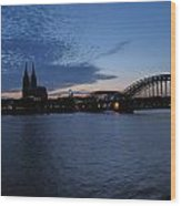 Koln Rhine Wood Print by David  Hawkins