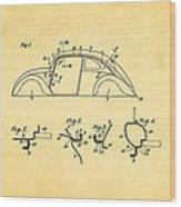 Komenda Vw Beetle Body Design Patent Art 1942 Wood Print