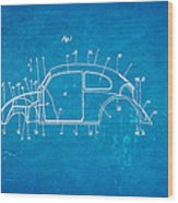 Komenda Vw Beetle Body Design Patent Art 1944 Blueprint Wood Print by Ian Monk