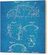 Komenda Vw Beetle Body Design Patent Art 1945 Blueprint Wood Print