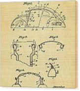 Komenda Vw Beetle Body Design Patent Art 1945 Wood Print by Ian Monk