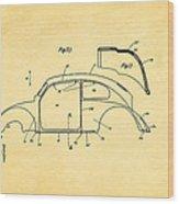 Komenda Vw Beetle Body Design Patent Art 2 1944 Wood Print