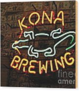Kona Brewing Company Wood Print