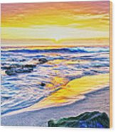 Kona Coast Sunset Wood Print